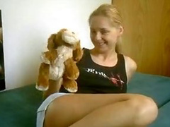 This teen ex likes to rape herself with her toys